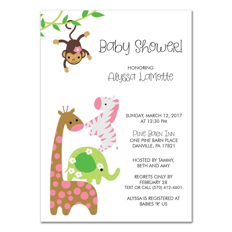Simple Safari Baby Shower Invitation