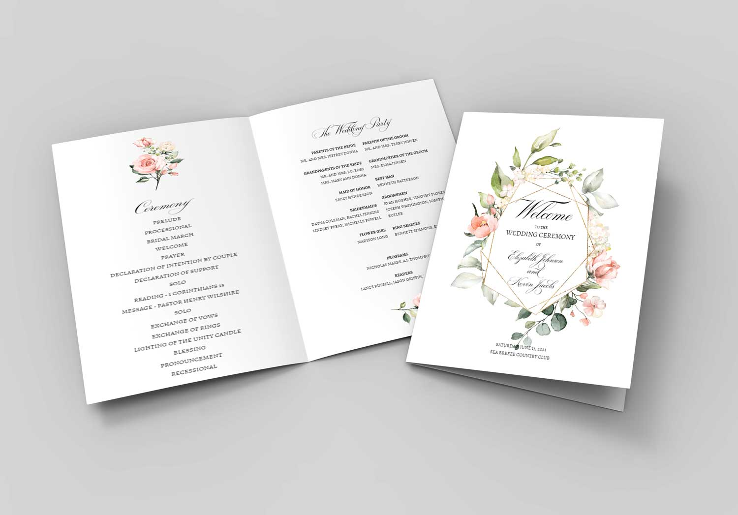 blush-bouquet-geometric-border-wedding-program-booklet-2