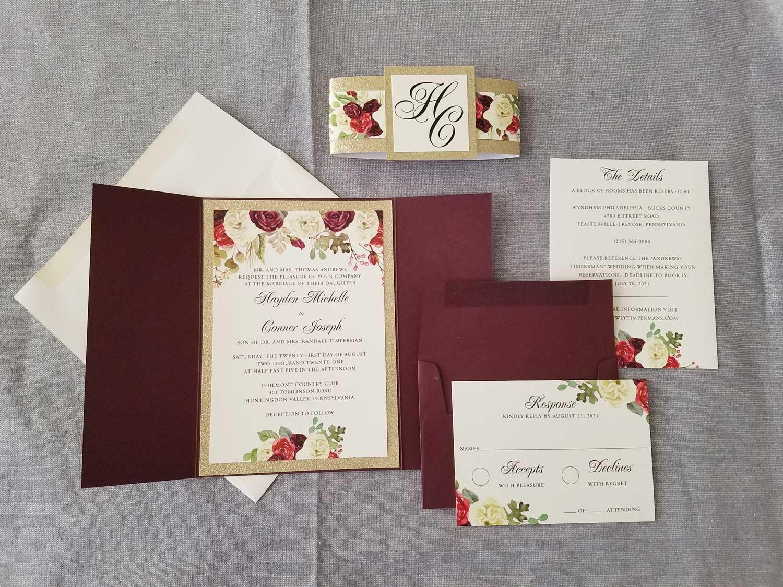 marsala-gold-glitter-gatefold-wedding-invitation-1