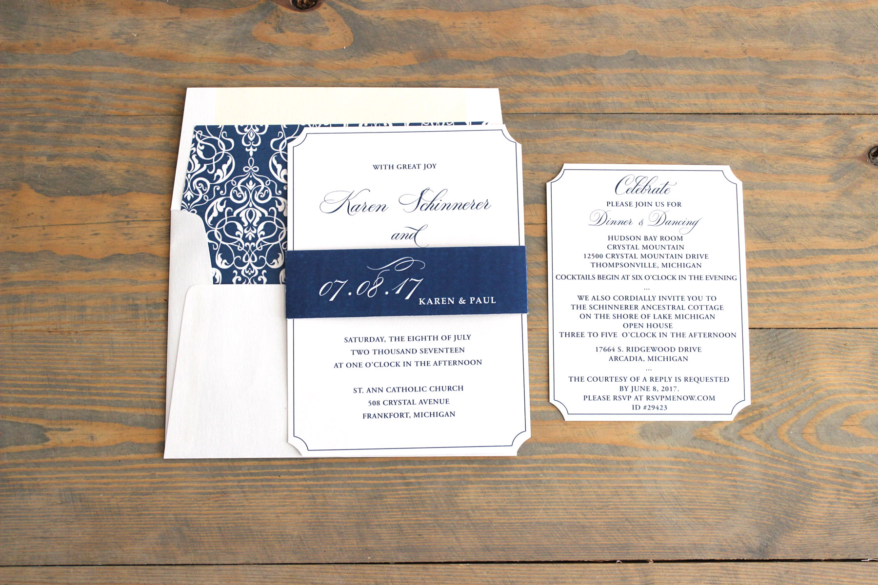 navy-classic-shimmer-wedding-invitation-1