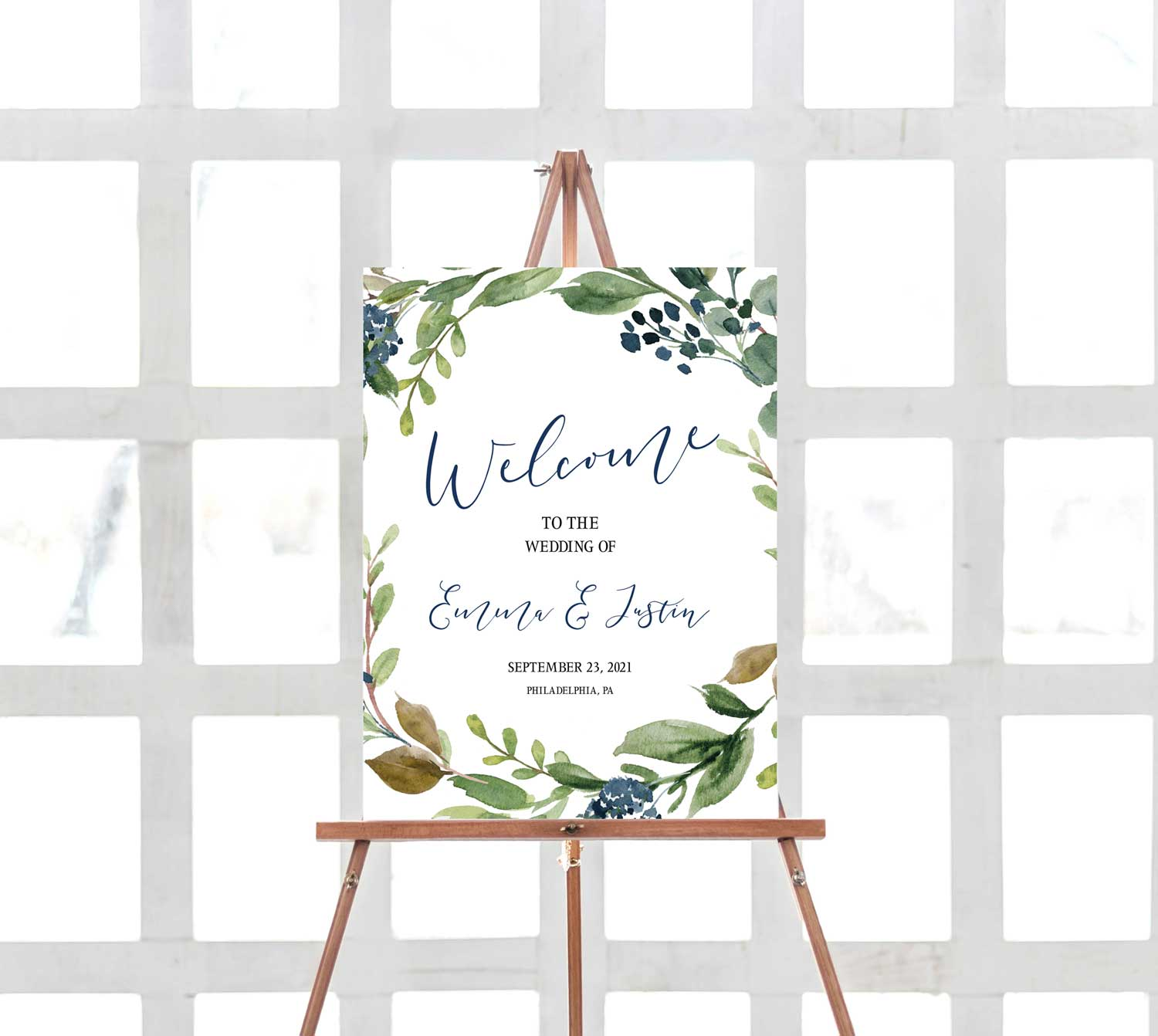 navy-harvest-wedding-welcome-sign-1