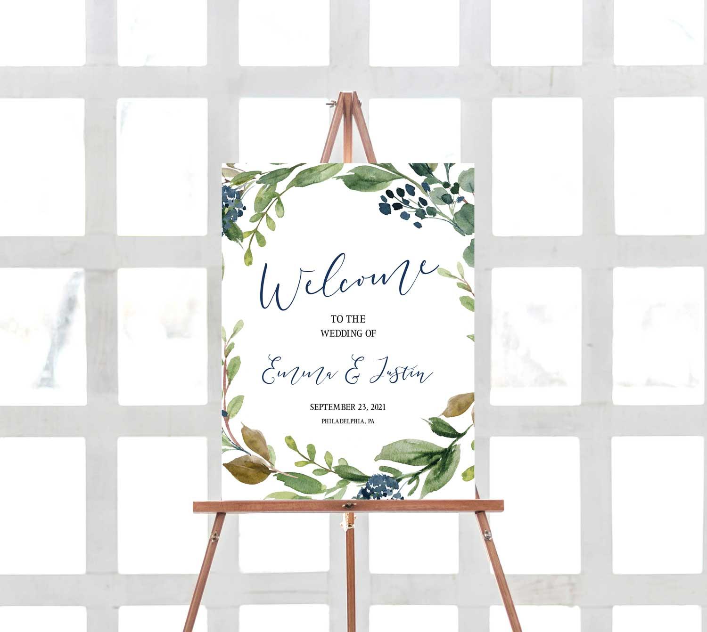 navy-harvest-wedding-welcome-sign-1