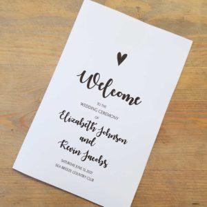 Folded Wedding Programs