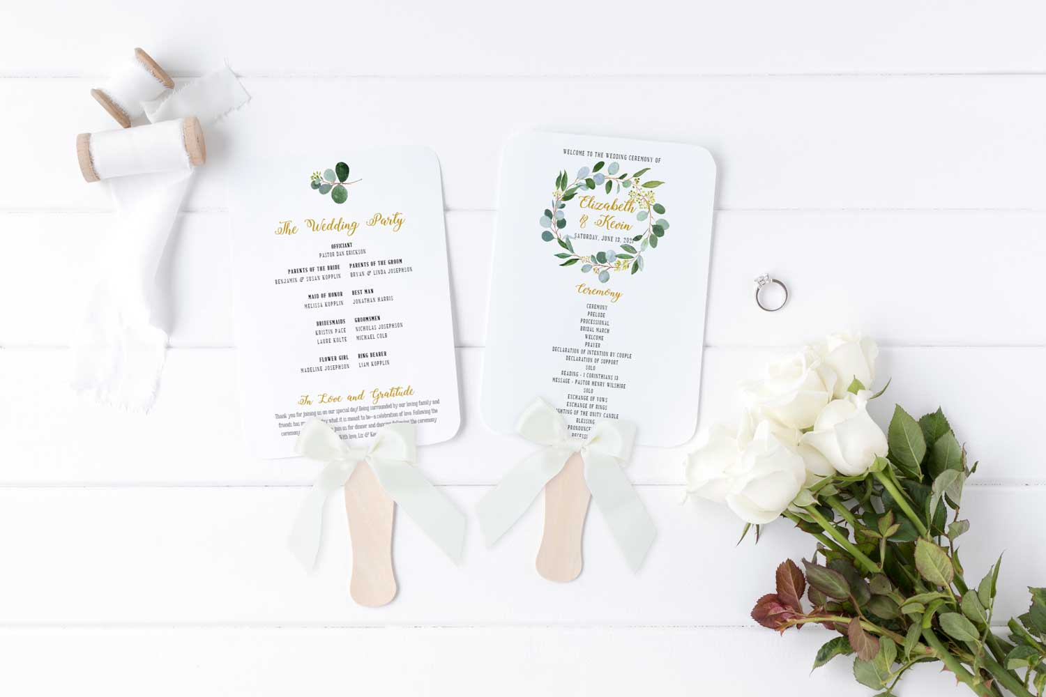 wedding-greenery-wedding-ceremony-program-fan-2