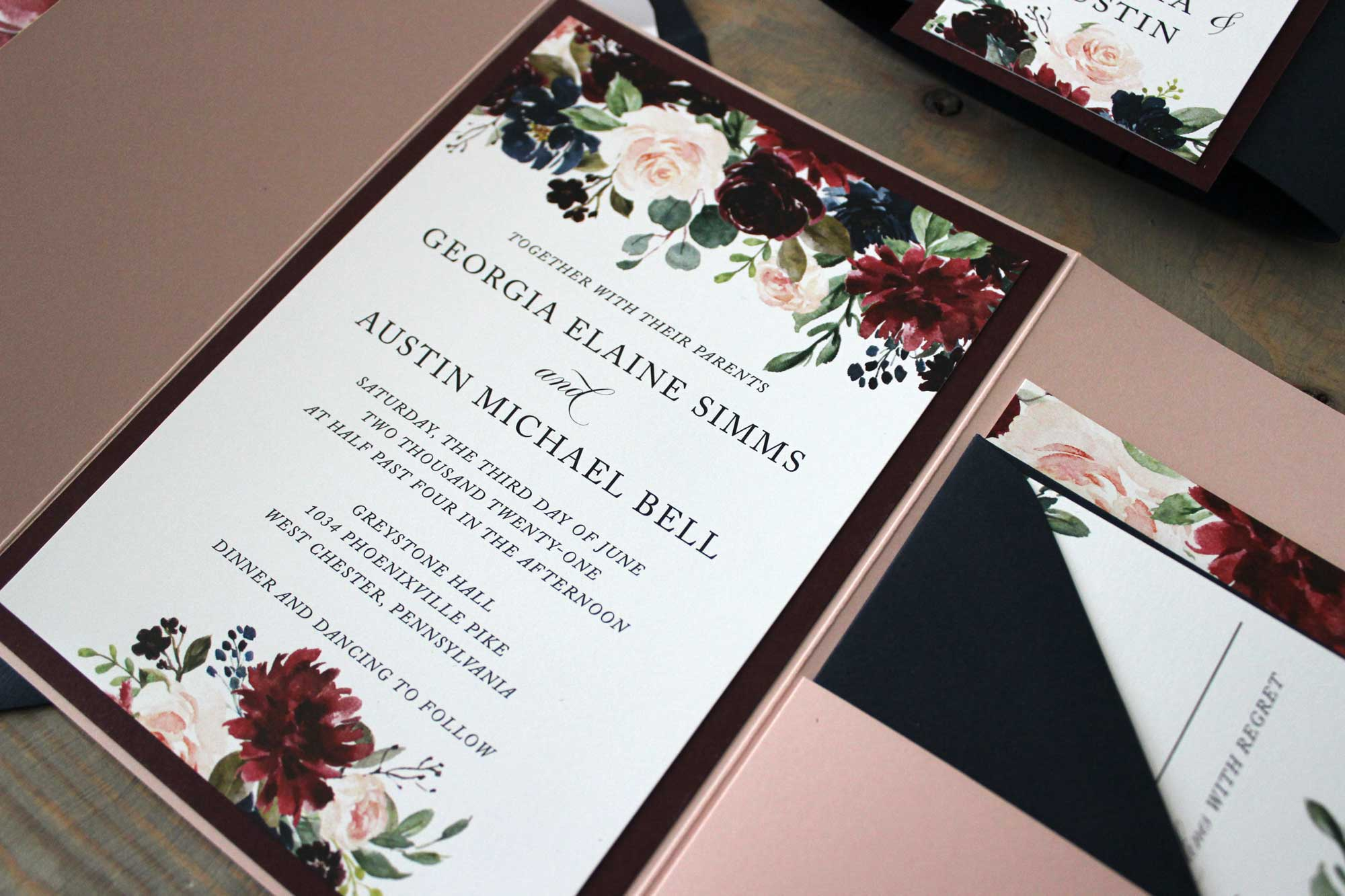 georgia-navy-rose-burgundy-pocket-wedding-invitation-3