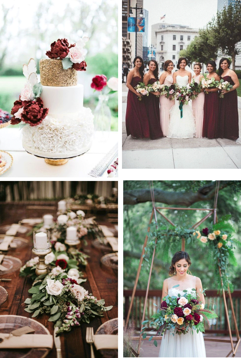 Blush and Burgundy Wedding Inspiration