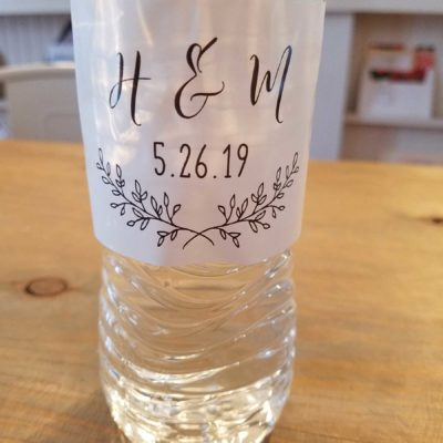 rustic elegance water bottle label