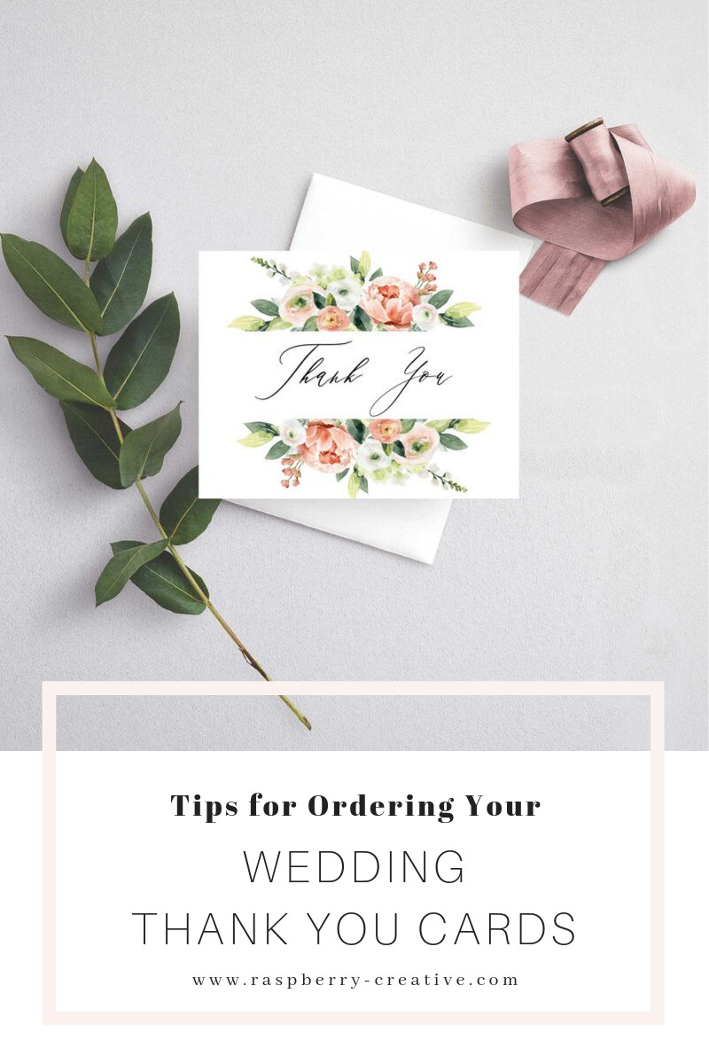 tips for ordering your wedding thank you cards