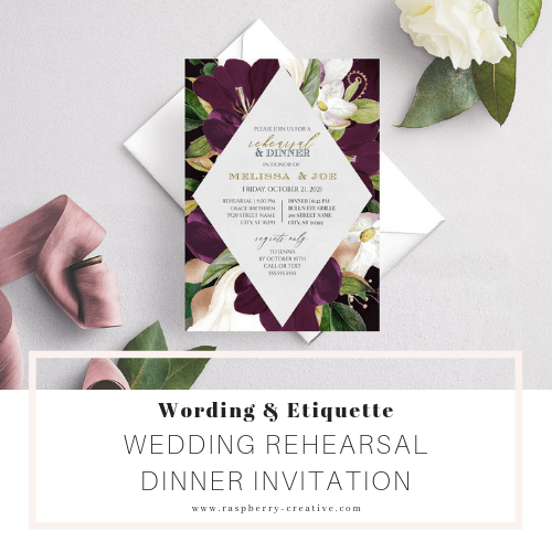 Wedding Rehearsal Dinner Invitation Wording And Etiquette