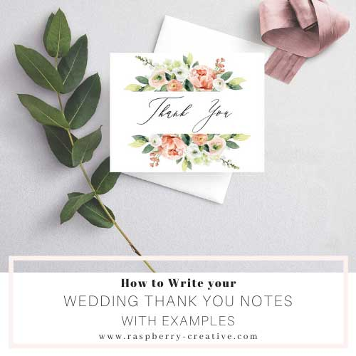 How to Write your Wedding Thank You Notes – Plus Examples