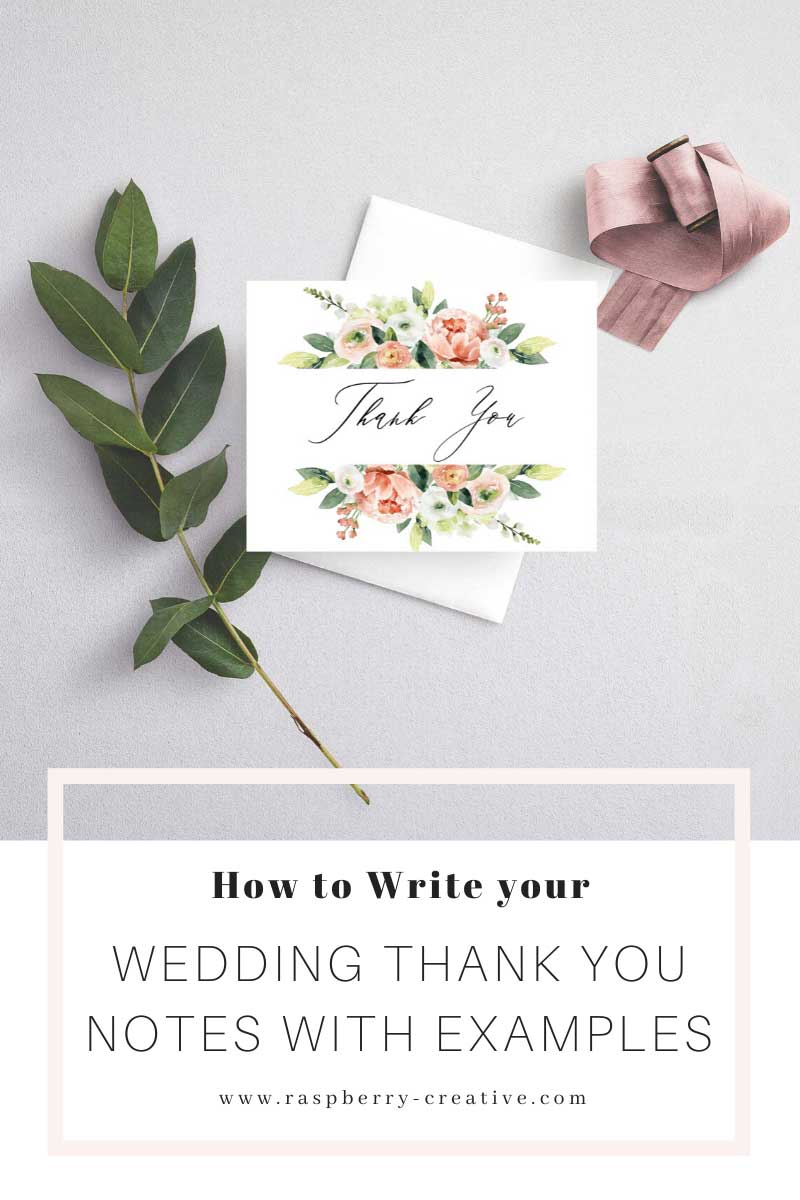 how to write your wedding thank you notes with examples