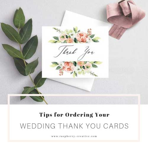 Tips for Ordering you Wedding Thank You Cards