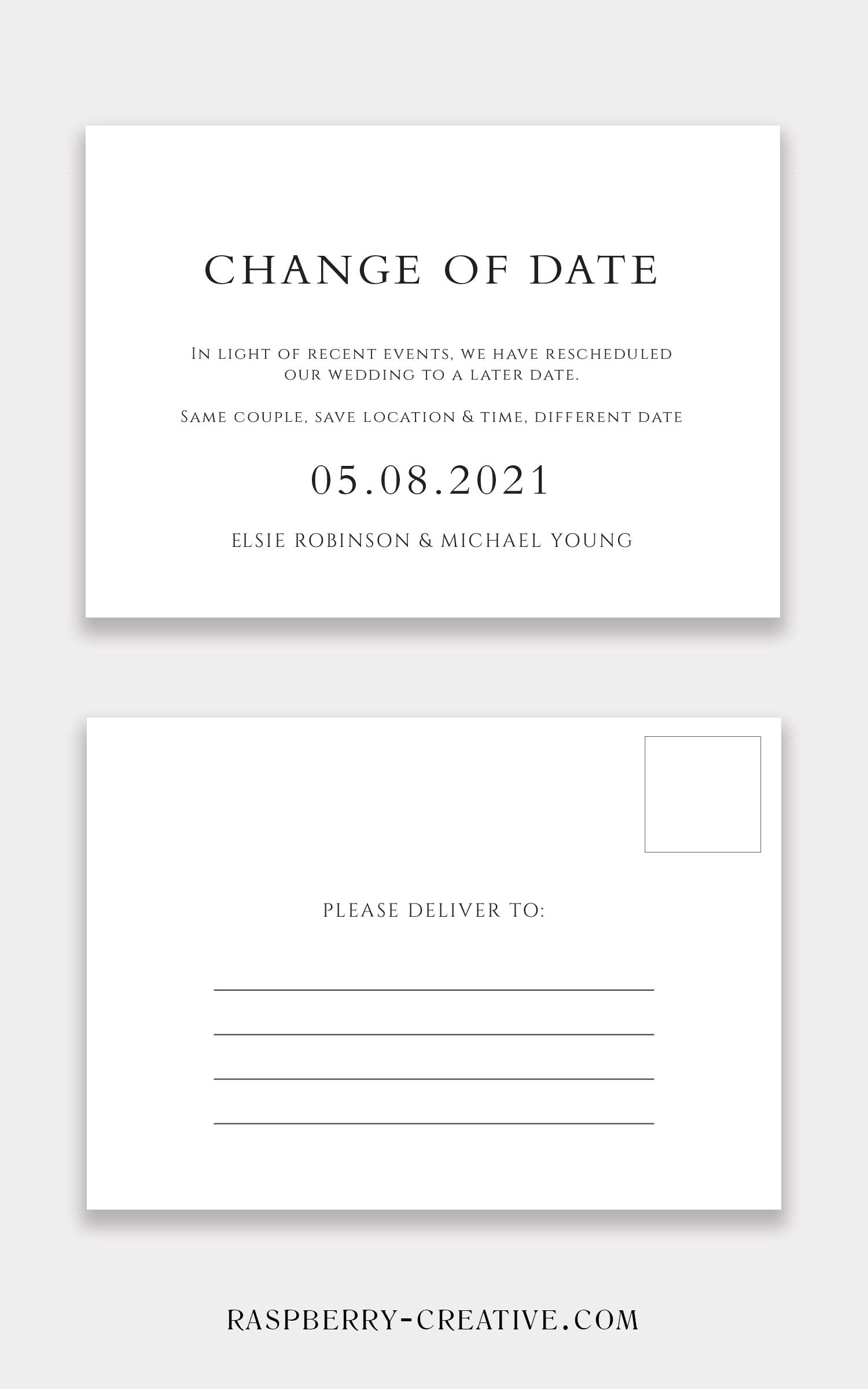 change the date postcard 2