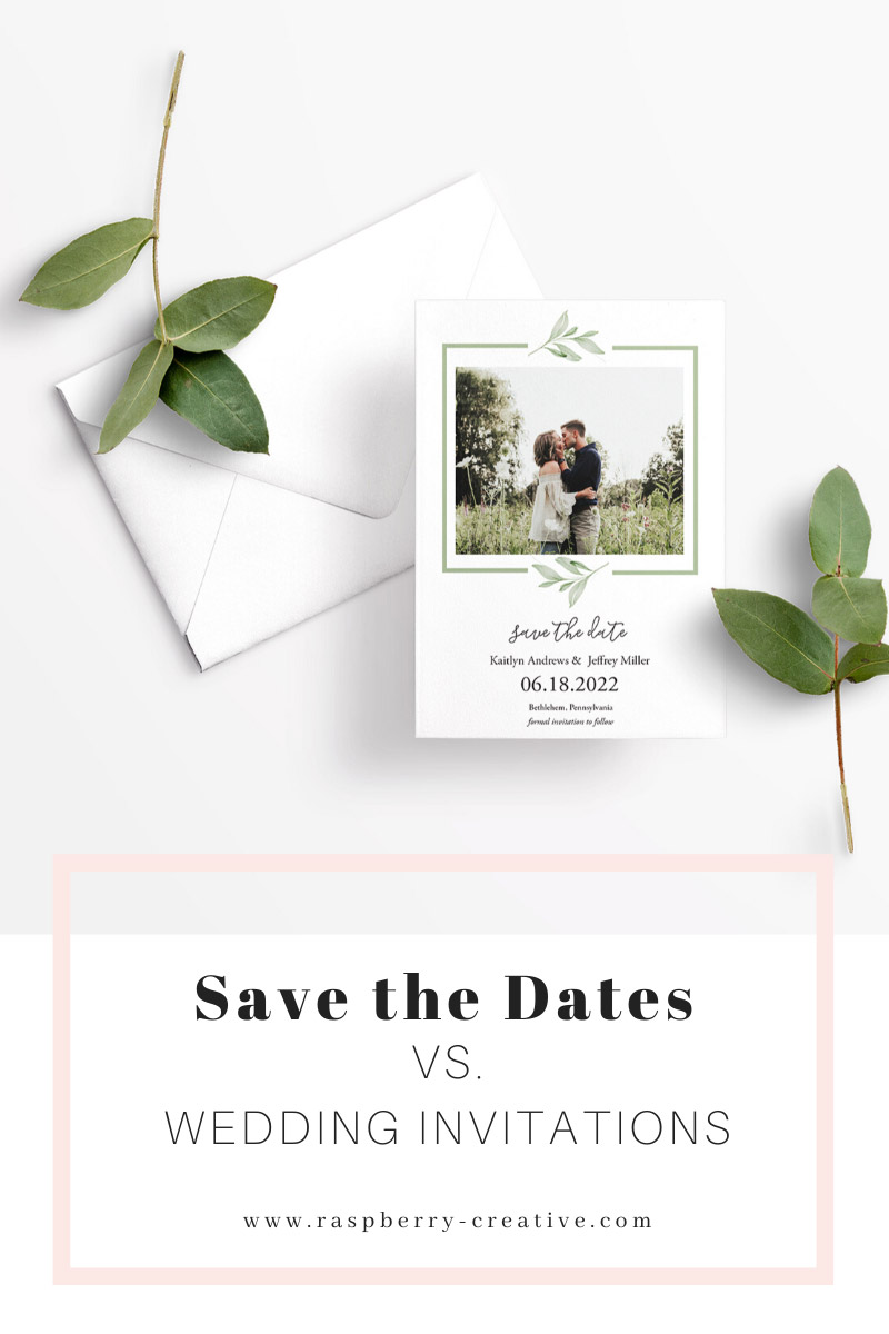 save the dates vs wedding invitations