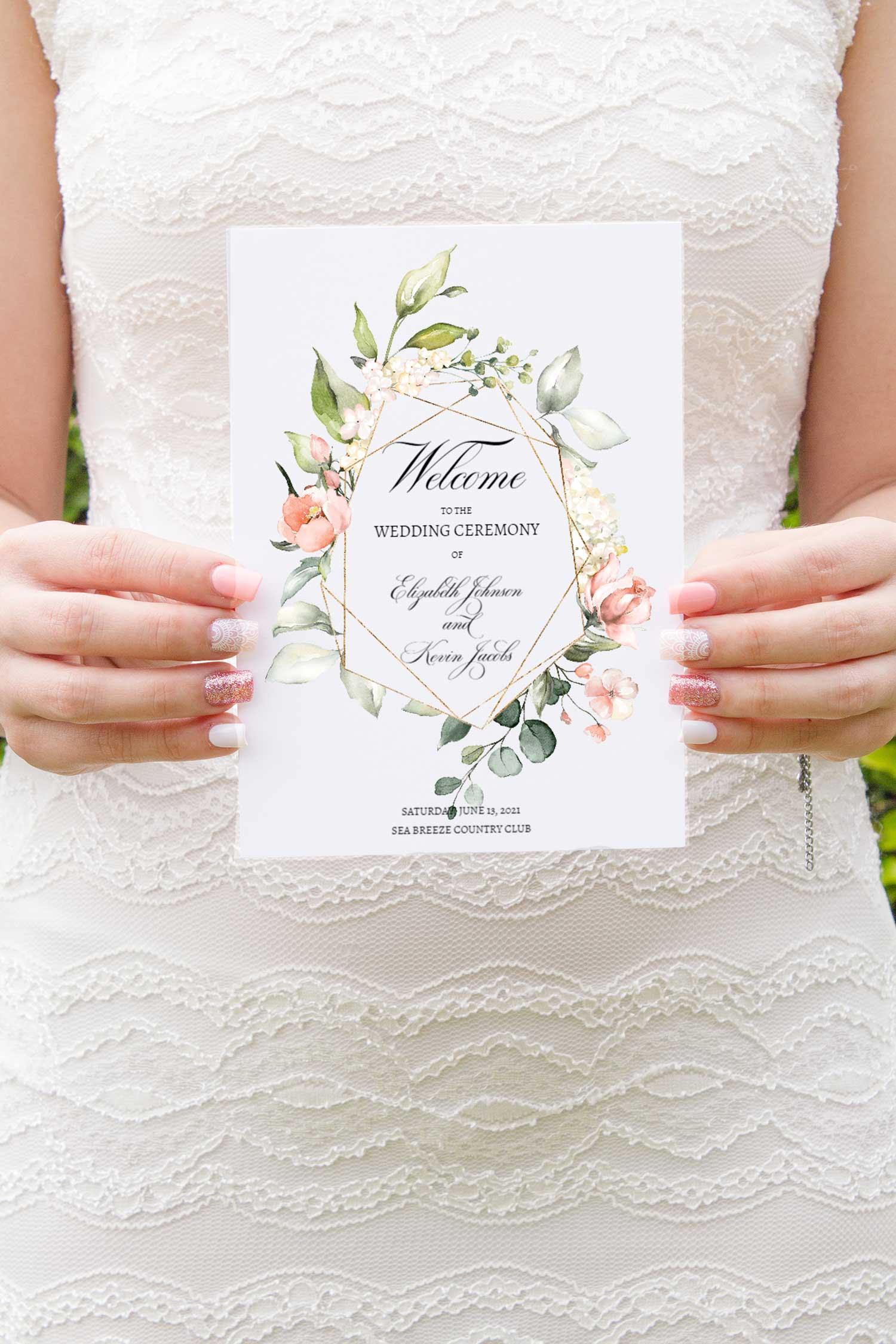 blush-bouquet-geometric-border-wedding-program-booklet-1