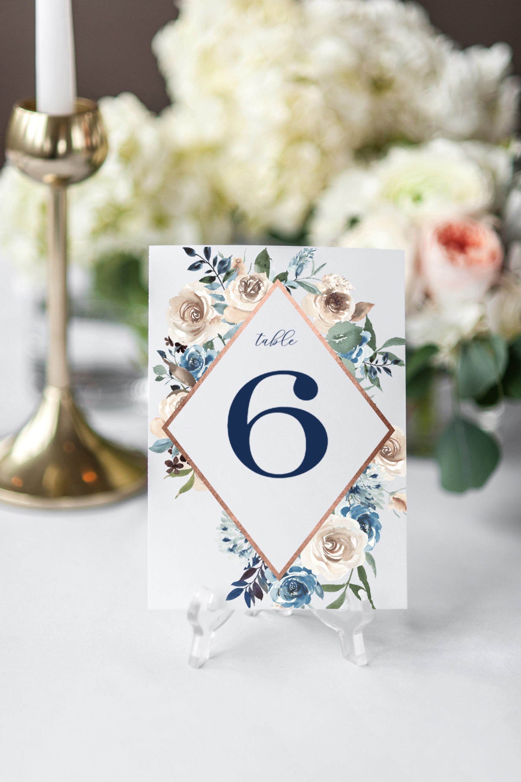 wedding reception table number