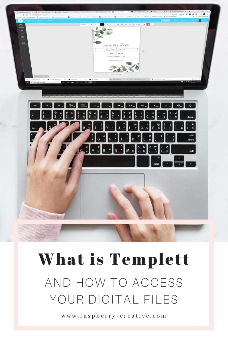 what is templett and how to you access your digital files