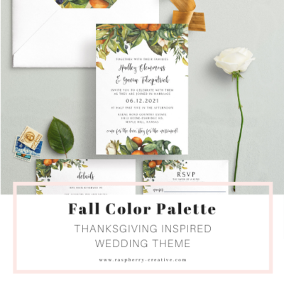 Feature Color Palette:  Thanksgiving Inspired Earthy Wedding