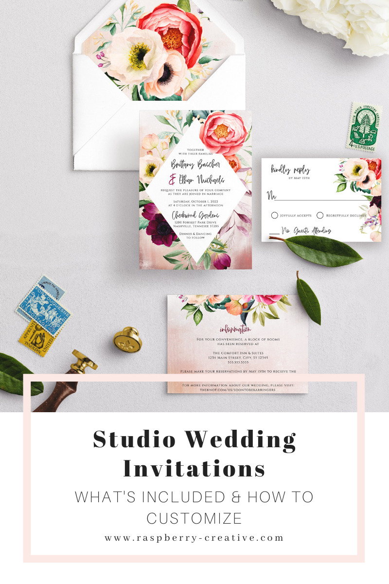 studio wedding invitations by raspberry creative