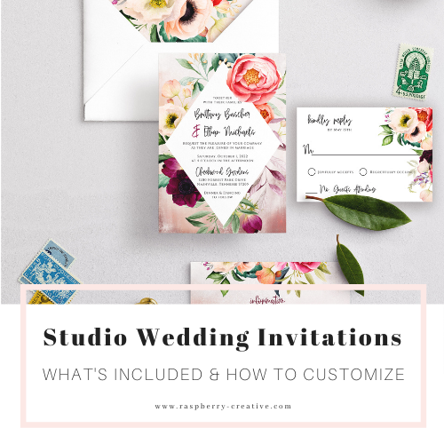 studio wedding invitations