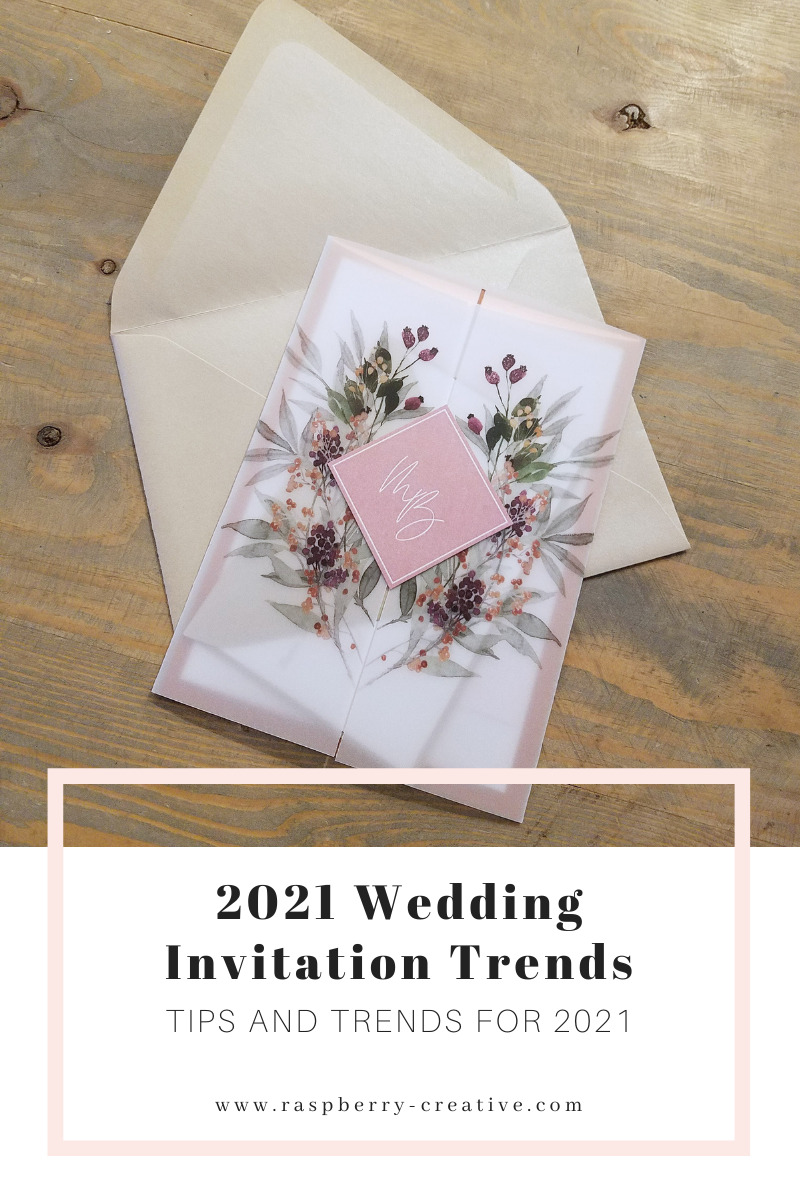 wedding invitation trends for 2021