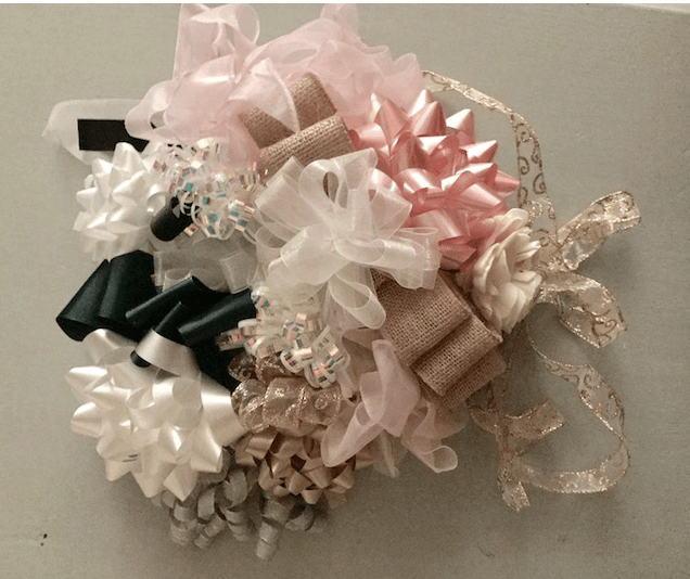 gift ribbon bouquet