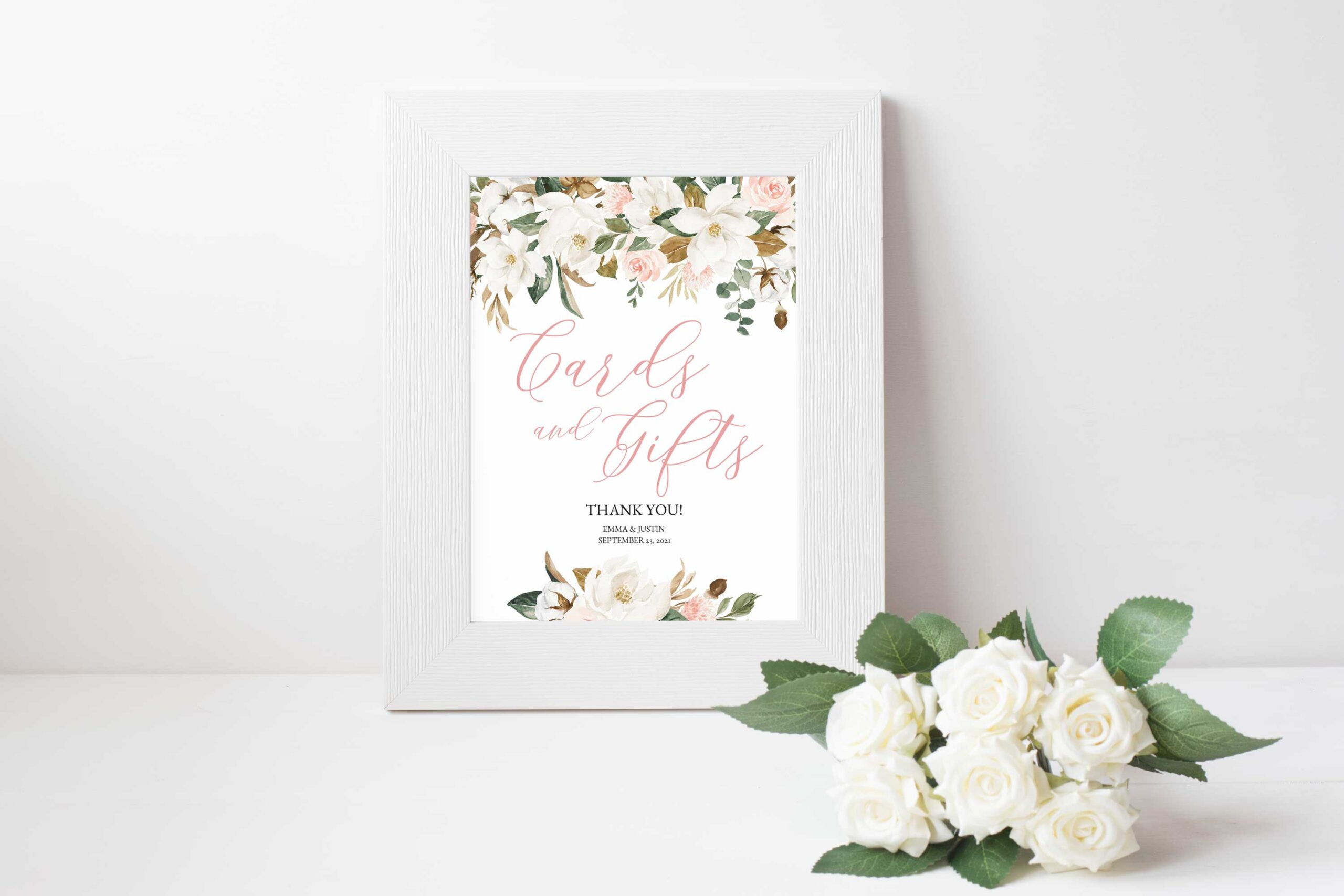 magnolia cards and gifts wedding sign