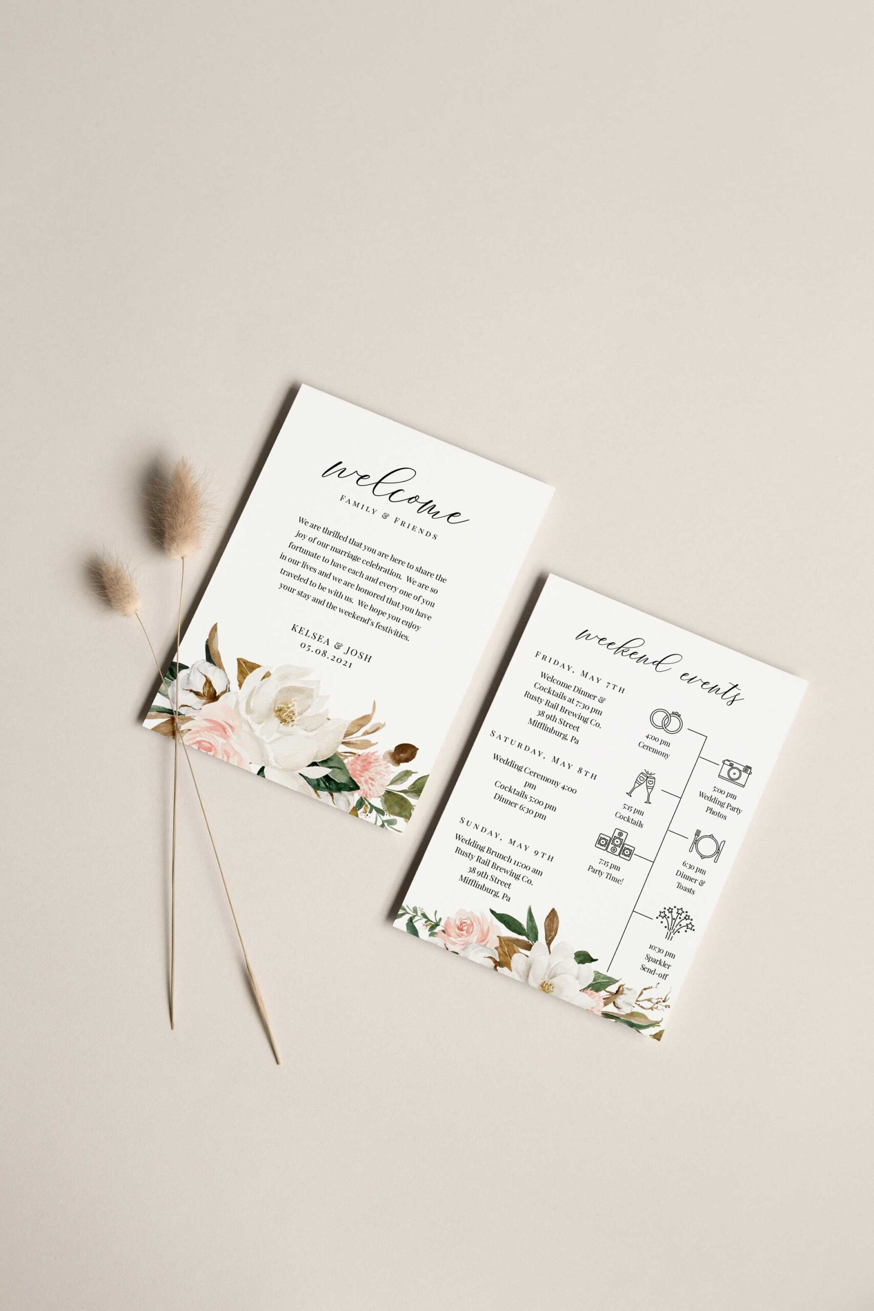 magnolia wedding welcome letter