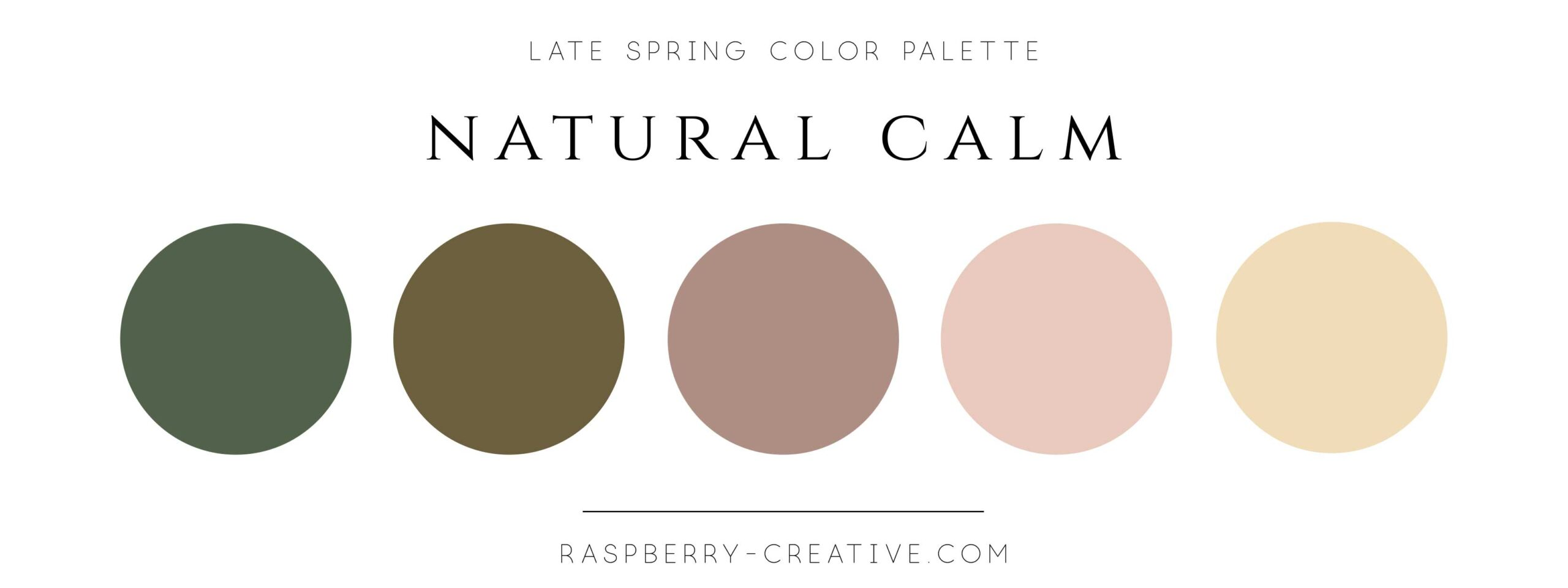 earthy calm late spring color palette