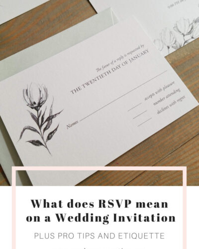 meaning of RSVP on wedding invitation