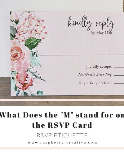 what does the m stand for on the rsvp