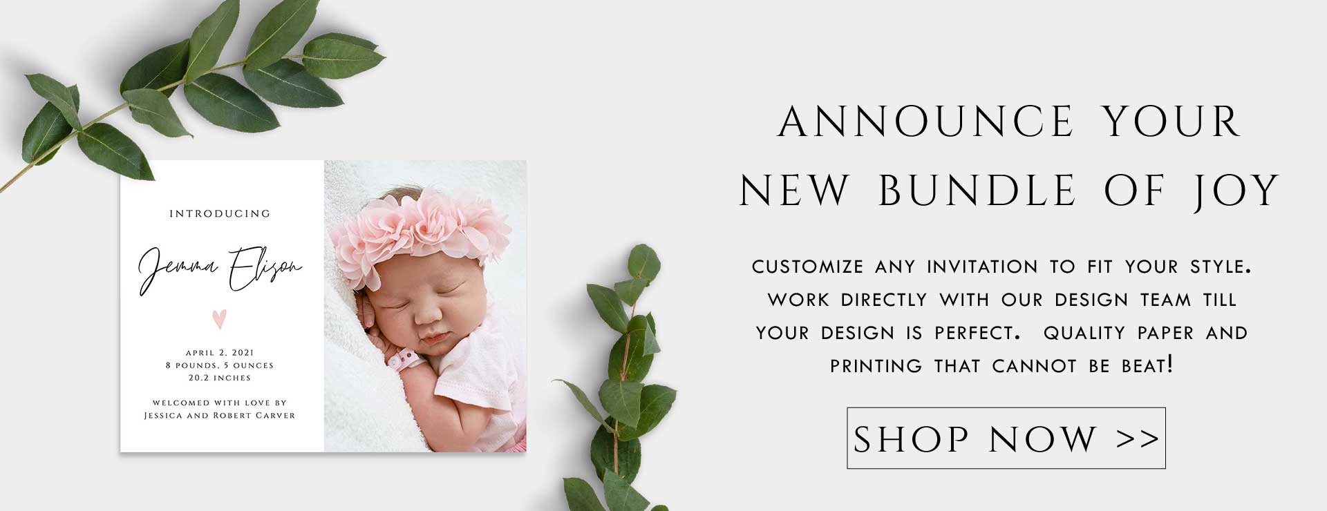 birth announcement collection