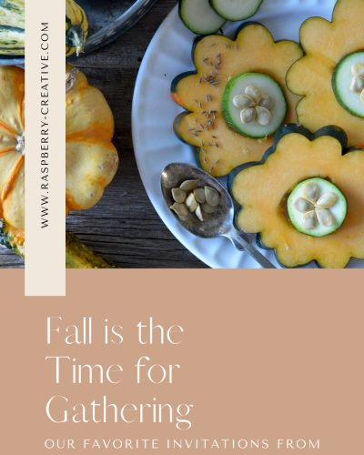 fall is the time for gathering