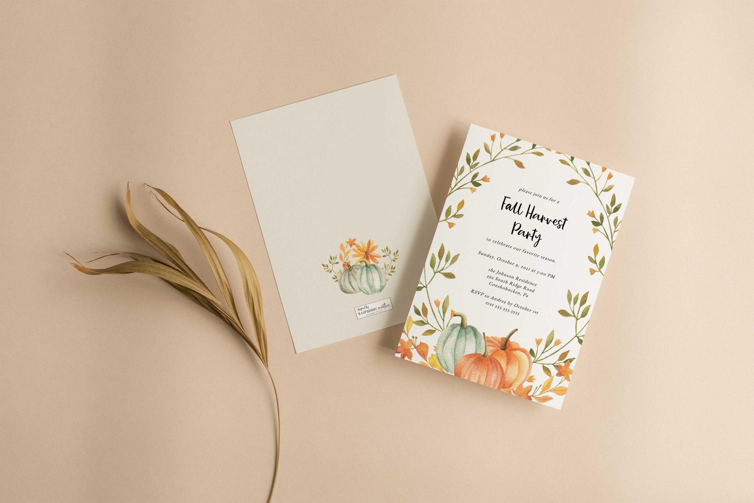 flora-bear-fall-harvest-greenery-party-invitation-1